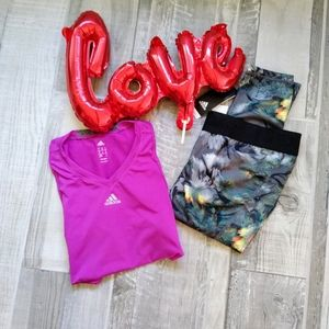 Adidas lot of 2 PC'S Crop compression/ workout Top